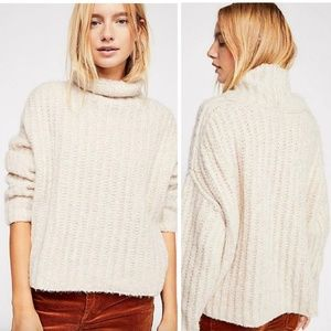 NWT Free People Fluffy Fox Sweater